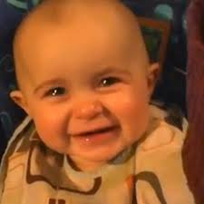 baby reacts with joy & tears to mom singing